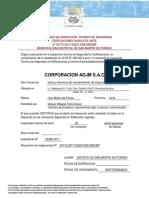 Certificado de Inspección Tecnica de Seguridad