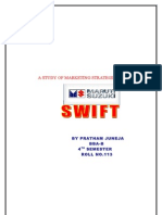 A Study of Marketing Strategies of Maruti Swift