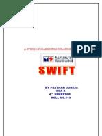 A Study of Marketing Strategies of Maruti Swift