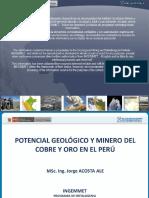 potencial geológico y minero del cobre y oro en el peru