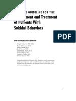 Suicidal Behaviors