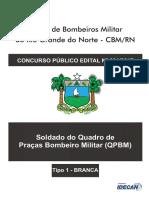 Soldado Do Quadro de Praças Bombeiro Militar – Tipo 1