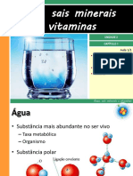 Agua, Sais Minerais e Vitaminas