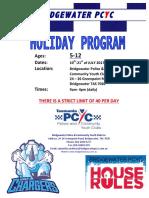 PCYC School Holiday Program- JULY 2017