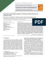 Joerin (2012) Assessingcommunityresiliencetoclimate-relateddisastersin Chennai India