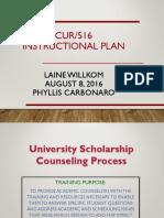 university scholarship counseling process