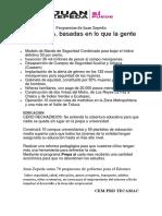 Propuestas de Juan Zepeda