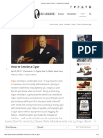 How to Smoke a Cigar — Gentleman's Gazette