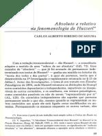 Absoluto e relativo na fenomenologia de husserl.pdf