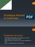 Estrategias Mentales Para La Creatividad