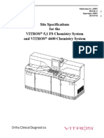 Site Specification for Vitros 5.1 4600
