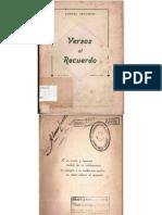 Aurora Venturini - Versos al recuerdo (1942)