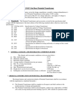 Specification for 33 Kv Pt