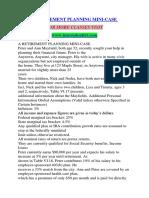 A RETIREMENT PLANNING MINI-CASE / TUTORIALOUTLET DOT COM