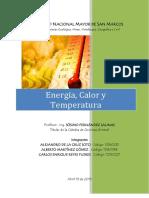 Calor Energía y Temperatura