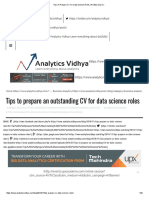 Tips to Prepare Cv for Data Science Roles _ Professional Cv