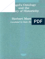 Herbert Marcuse-Hegel's Ontology and Theory of Historicity