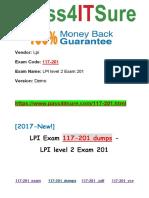 New Pass4itsure Lpi 117-201 Dumps PDF - LPI level 2 Exam 201