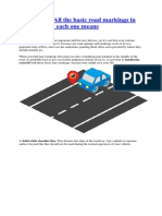 Must Know Road Markings