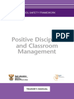 Positive Classroom Discipline and Classroom Management Trainers Manual