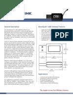 MDG01 USB Gateway Data Sheet