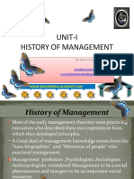 History of management.
