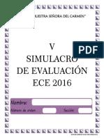 Ece 2016 - v Simulacro Ece 2016