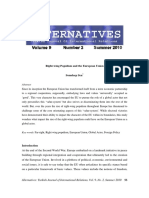 Alternatives Journal - Right Wing Populism By