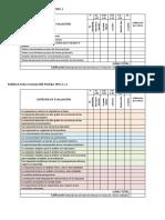 Rúbrica Para Evaluación Prueba Tipo 1