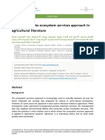 Evaluation of the Ecosystem Services Approach in Agricultural Literature