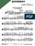 Yesterday - Beatles - Spartito Tastiera.pdf