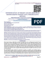 DETERMINATION OF BREAST CANCER AREA FROM MAMMOGRAPHY IMAGES USING THRESHOLDING METHOD