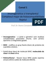 Curs 1-Imunogenetica Si Transplantul.complexul