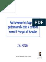 6 - Contexte Normatif Francais Et Europeen - POTIER