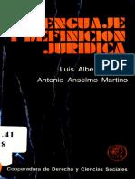 Warat, L.A. & Martino, A.A. (1973). Lenguaje y definición juridica. Buenos Aires, Cooperadora de Derecho y Ciencias Sociales