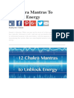 12 Chakra Mantras to Unblock Energy