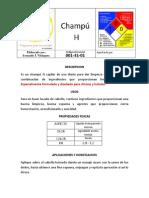 Ficha Tecnica Champu H