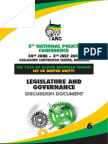 ANC National Policy Conference 2017 Discussion Document Legislature and Governance