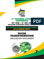 ANC National Policy Conference 2017 Discussion Document  Social Transformation