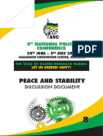 ANC National Policy Conference 2017 Discussion Document Peace and Stability
