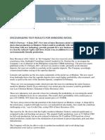 Intex - Press Release 6 June 2017