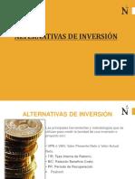 Sesion 12 Alternativas de Inversión