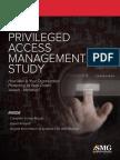 2015 Privileged Access Management Study