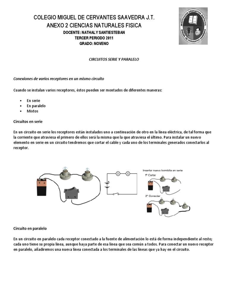 Circuito Serie Y Paralelo : Circuitos serie y paralelo anexo