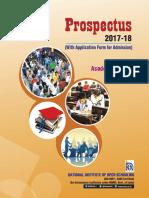 AcadProspectus 2017 18 NIOS