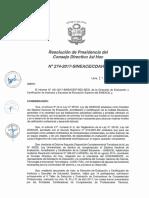 Resolución N°274-2017-SINEACE-CDAH-P