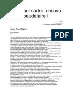 Jean Paul Sartre Ensayo Sobre Baudelaire I