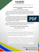 Hugo Carvajal exigió derecho a réplica a Manuel Malaver por publicación falsa que le asigna altos cargos en cúpula militar