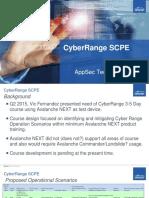Cyber Range SCPE AppSec TechRoundup