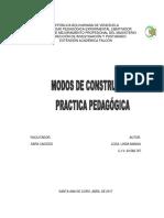 Analizar Los Modos de Construir La Practica Pedagogica